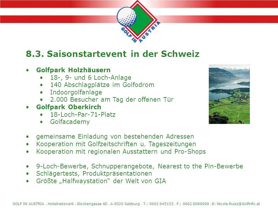 8.3. Saisonstartevent in der Schweiz