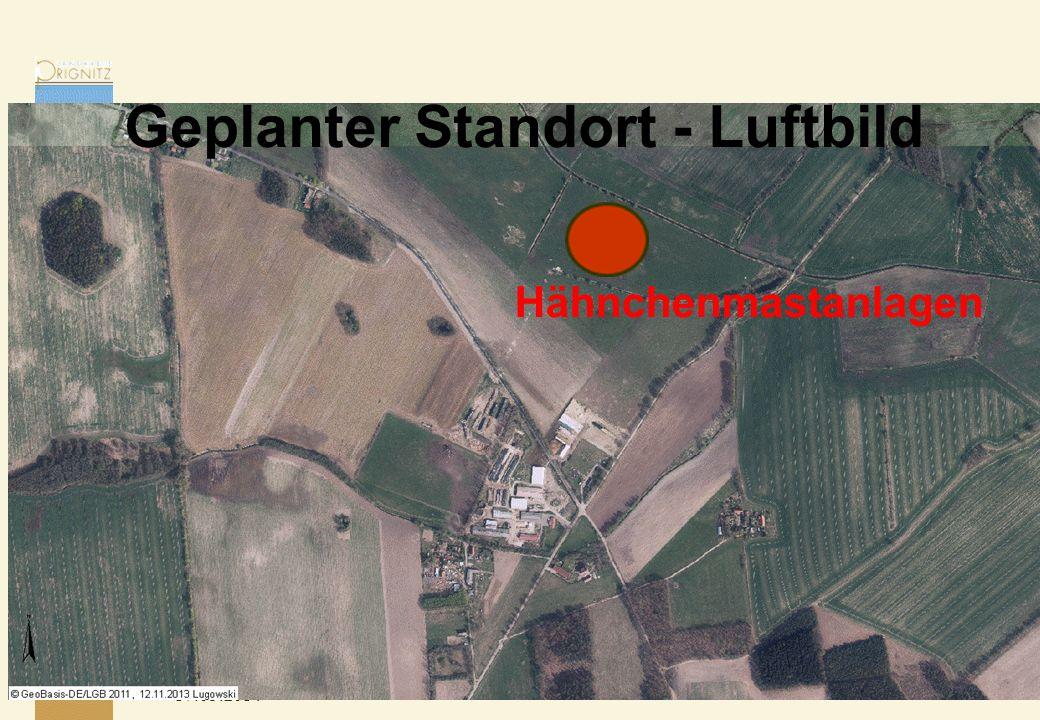 Geplanter Standort - Luftbild