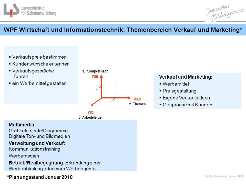 WPF Wirtschaft und Informationstechnik: Themenbereich Verkauf und Marketing*