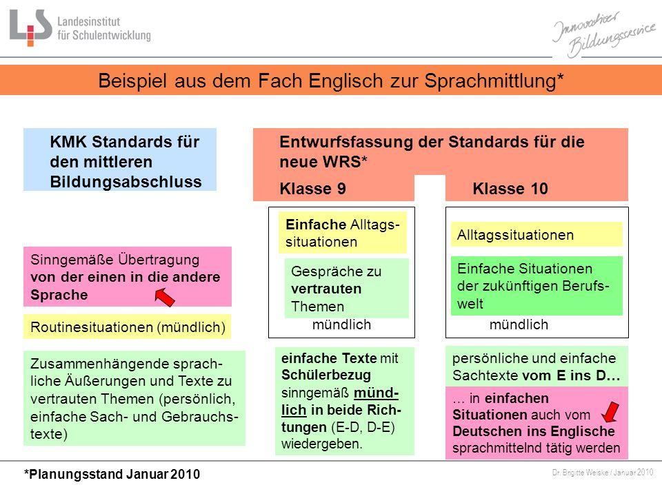 Beispiel aus dem Fach Englisch zur Sprachmittlung*