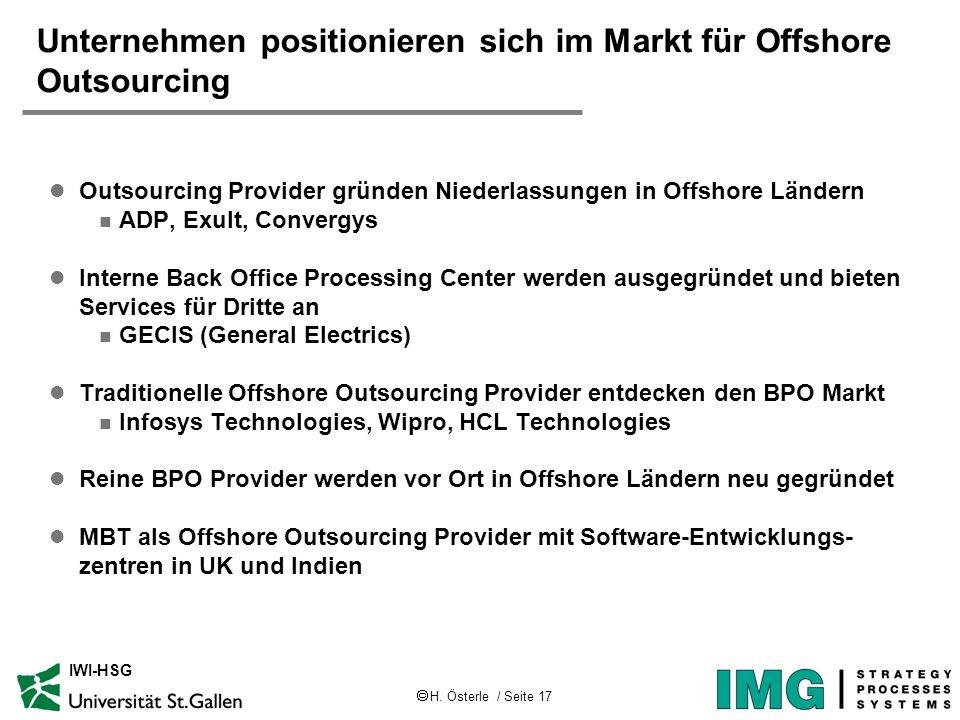 Unternehmen positionieren sich im Markt für Offshore Outsourcing