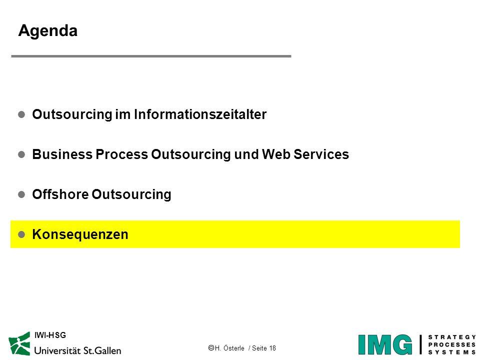 Agenda Outsourcing im Informationszeitalter