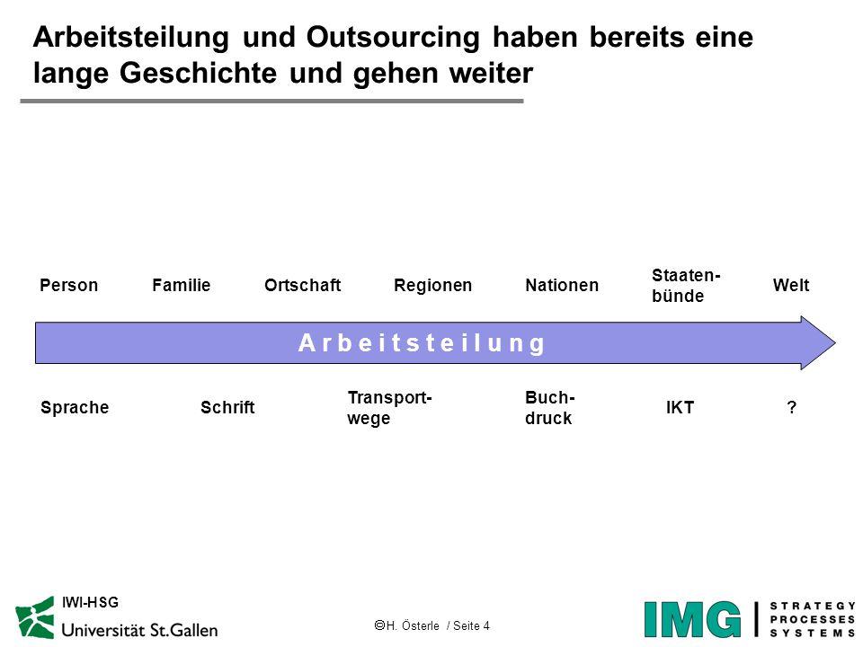 Arbeitsteilung und Outsourcing haben bereits eine lange Geschichte und gehen weiter