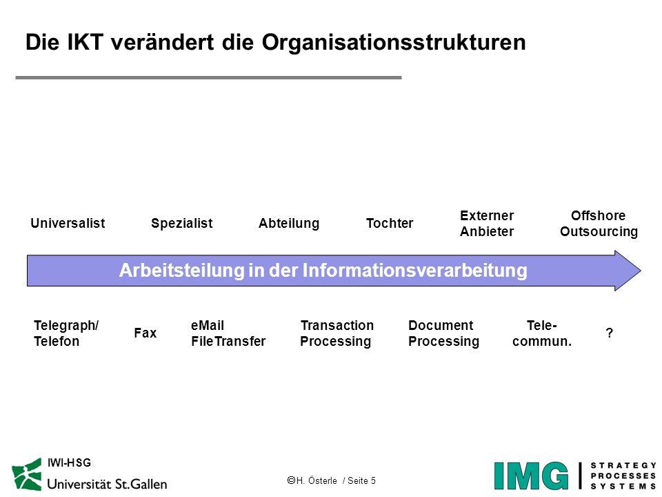 Die IKT verändert die Organisationsstrukturen