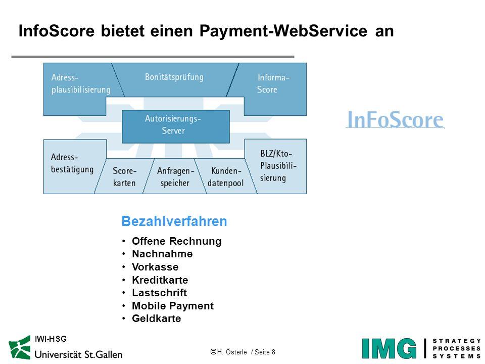 InfoScore bietet einen Payment-WebService an