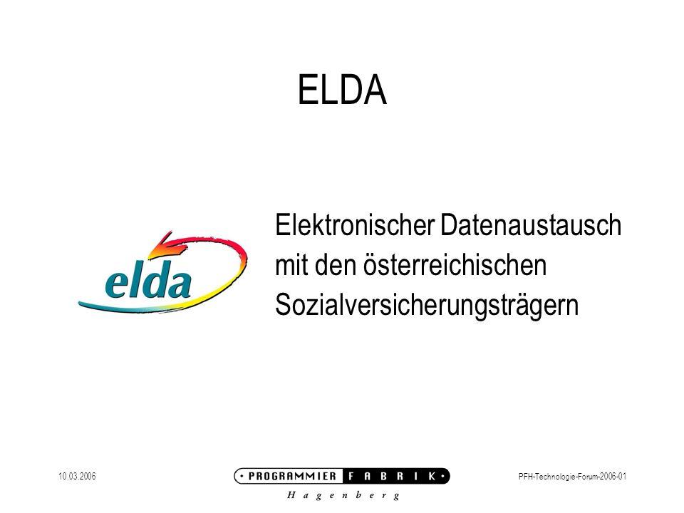 ELDA Elektronischer Datenaustausch mit den österreichischen