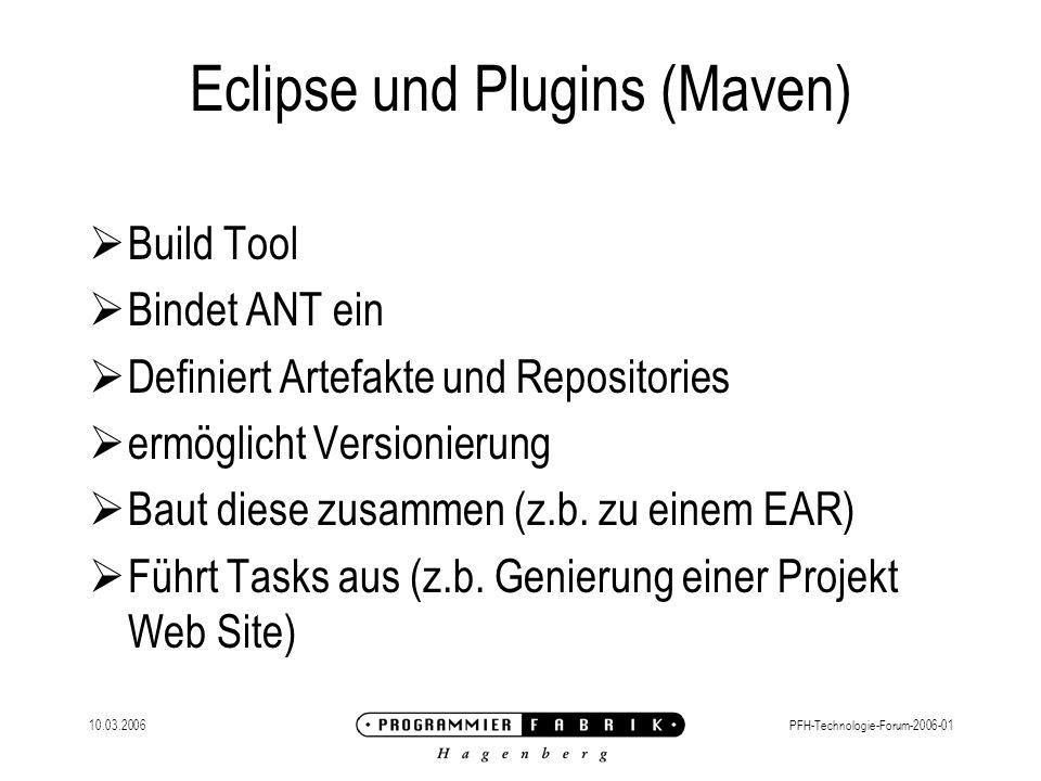 Eclipse und Plugins (Maven)