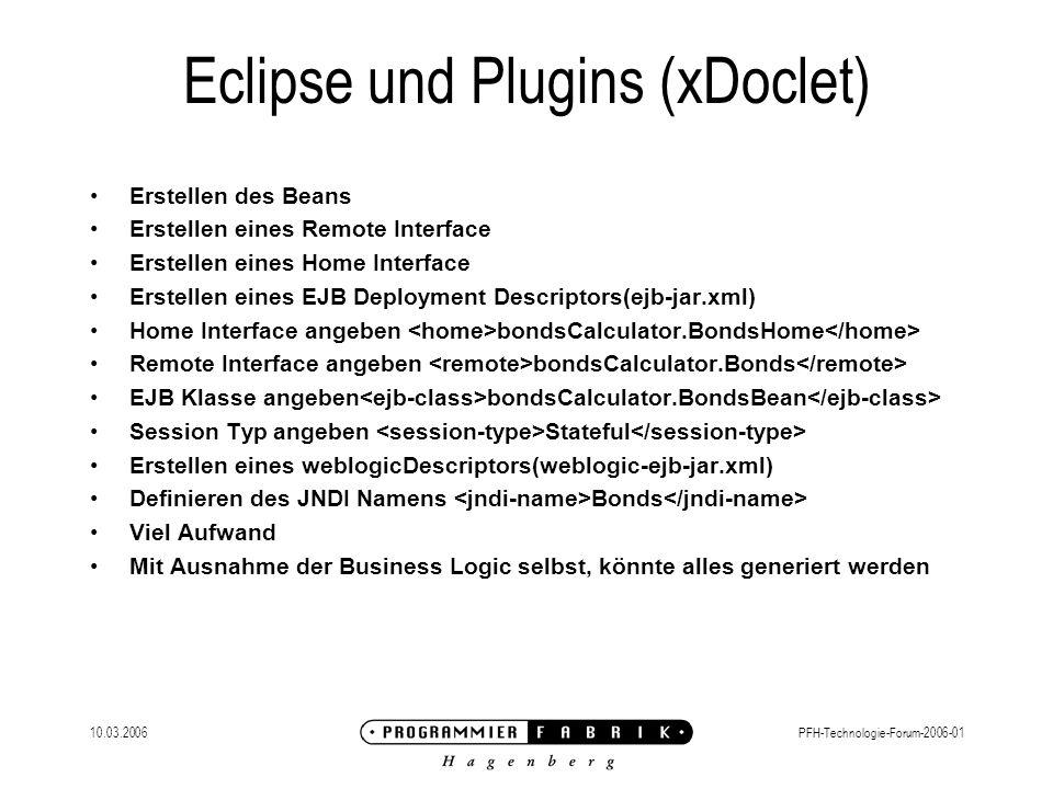Eclipse und Plugins (xDoclet)