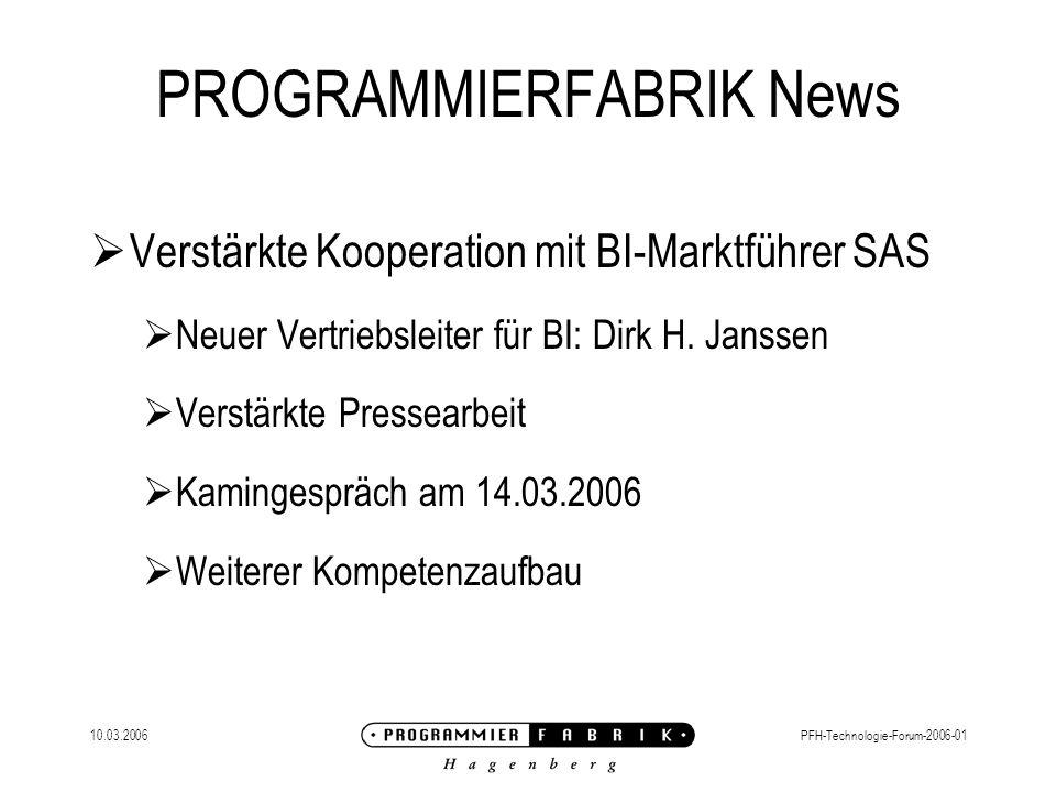 PROGRAMMIERFABRIK News