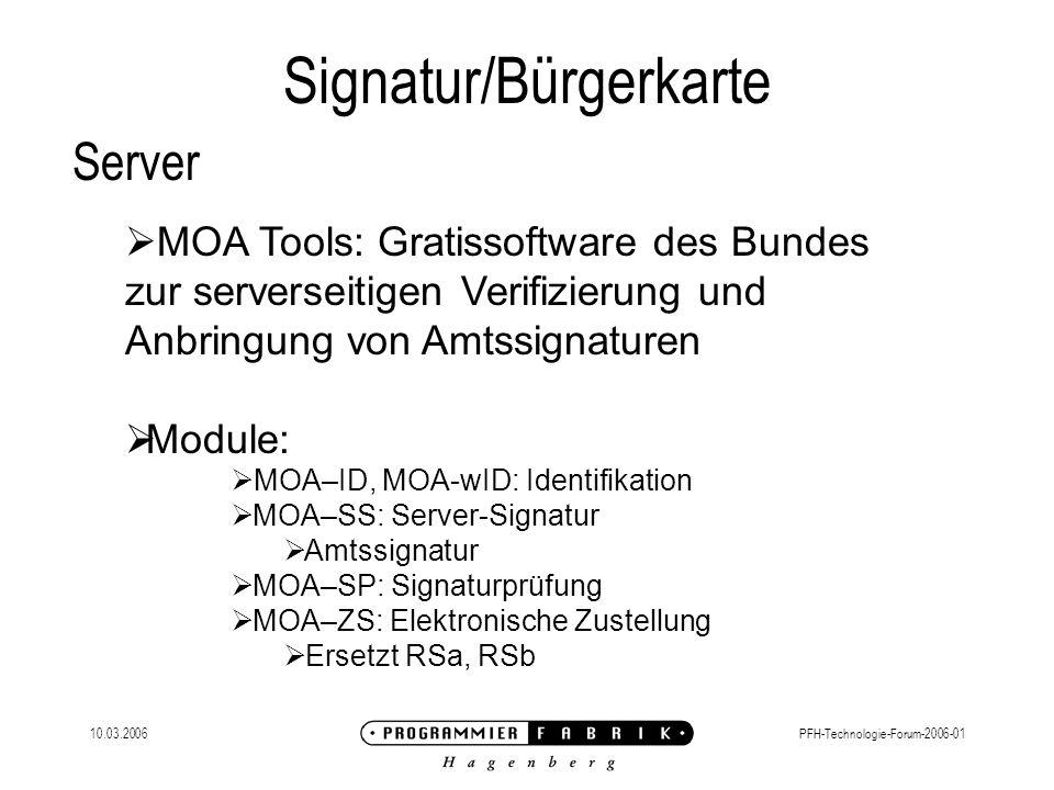 Signatur/Bürgerkarte