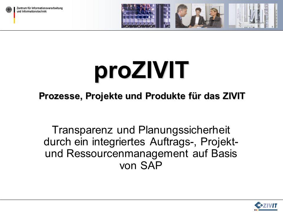 proZIVIT Prozesse, Projekte und Produkte für das ZIVIT.