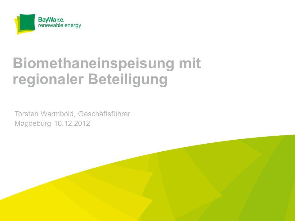 Biomethaneinspeisung mit regionaler Beteiligung