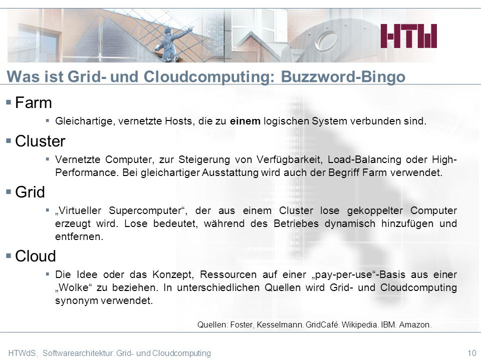 Was ist Grid- und Cloudcomputing: Buzzword-Bingo