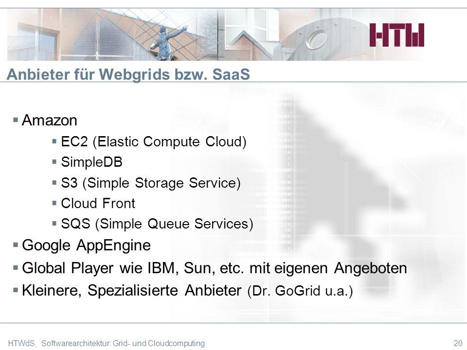 Anbieter für Webgrids bzw. SaaS