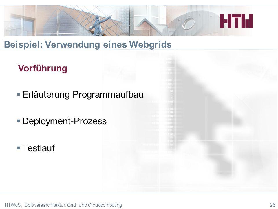 Beispiel: Verwendung eines Webgrids