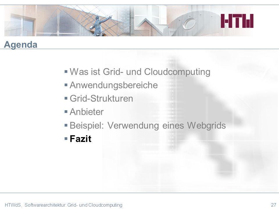 Was ist Grid- und Cloudcomputing Anwendungsbereiche Grid-Strukturen