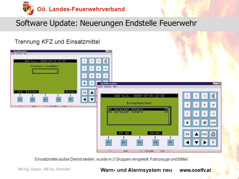 Software Update: Neuerungen Endstelle Feuerwehr
