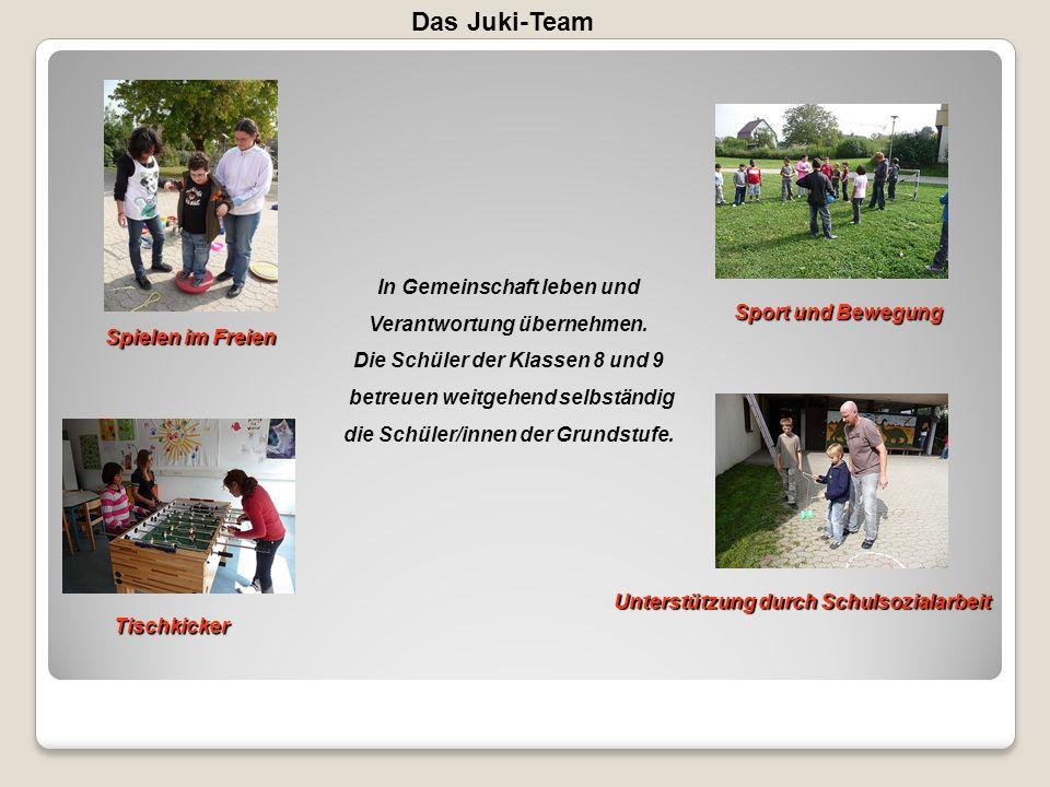 Das Juki-Team In Gemeinschaft leben und Verantwortung übernehmen.