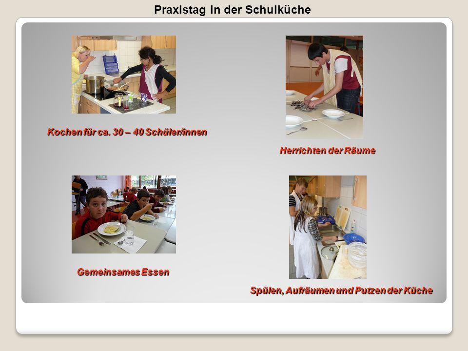 Praxistag in der Schulküche