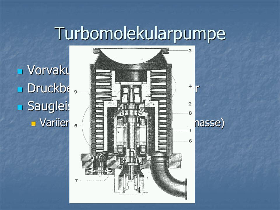 Turbomolekularpumpe Vorvakuum erforderlich