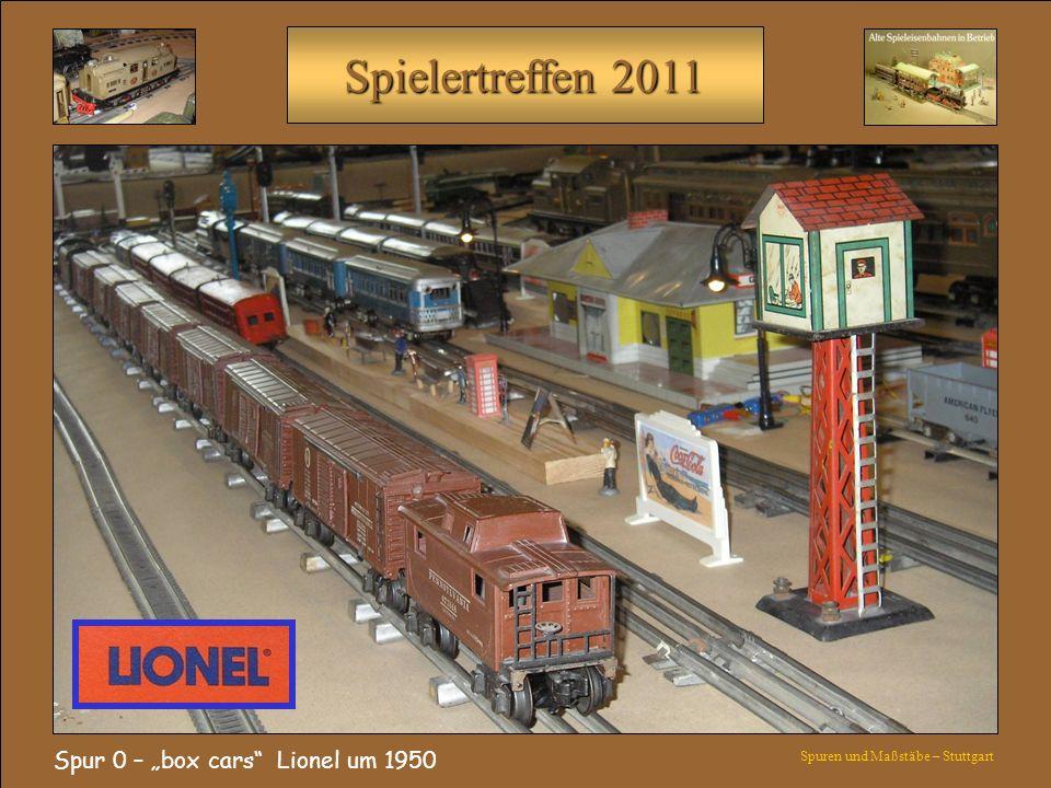 """Spur 0 – """"box cars Lionel um 1950"""
