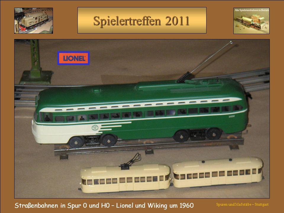 Straßenbahnen in Spur 0 und H0 – Lionel und Wiking um 1960