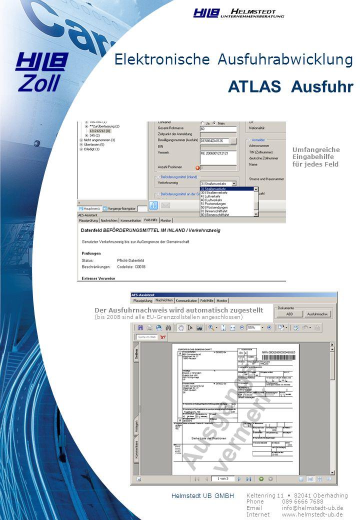 ATLAS Ausfuhr Elektronische Ausfuhrabwicklung Helmstedt UB GMBH