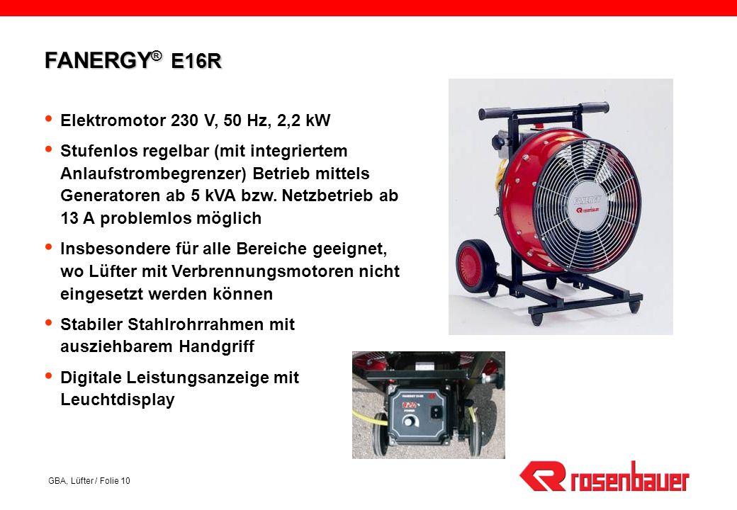 FANERGY® E16R Elektromotor 230 V, 50 Hz, 2,2 kW