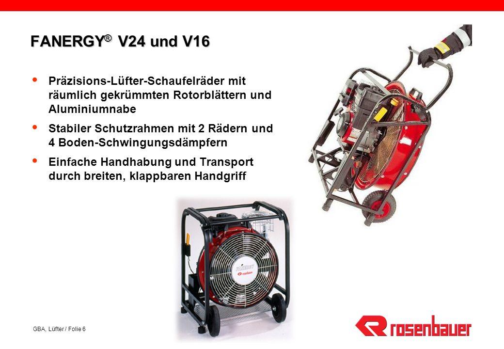 FANERGY® V24 und V16 Präzisions-Lüfter-Schaufelräder mit räumlich gekrümmten Rotorblättern und Aluminiumnabe.