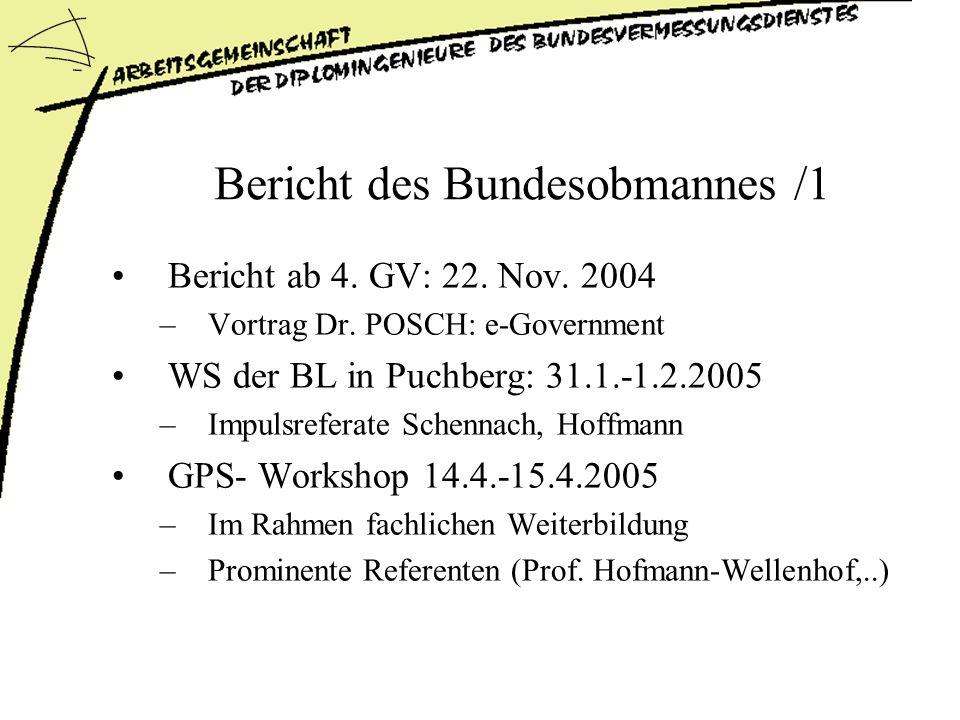 Bericht des Bundesobmannes /1