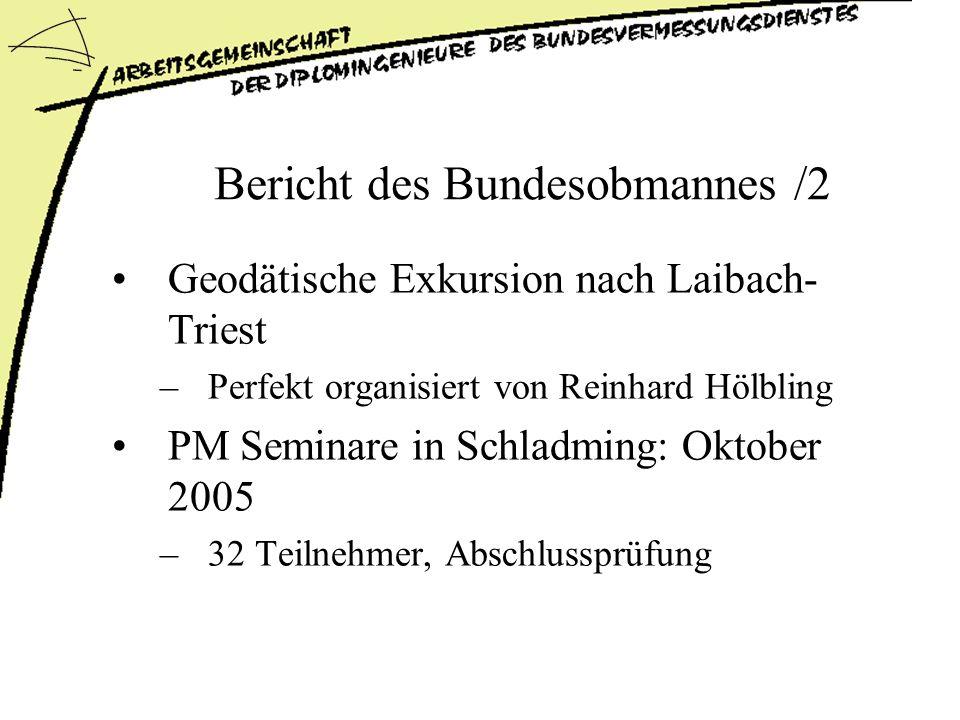 Bericht des Bundesobmannes /2
