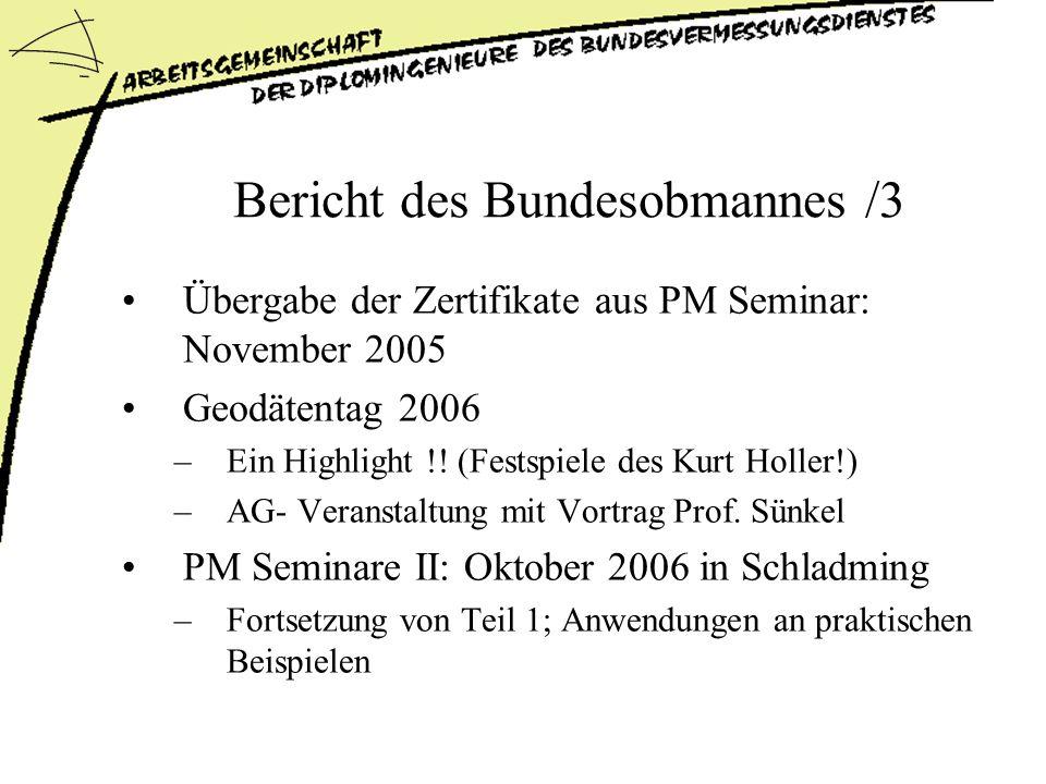 Bericht des Bundesobmannes /3