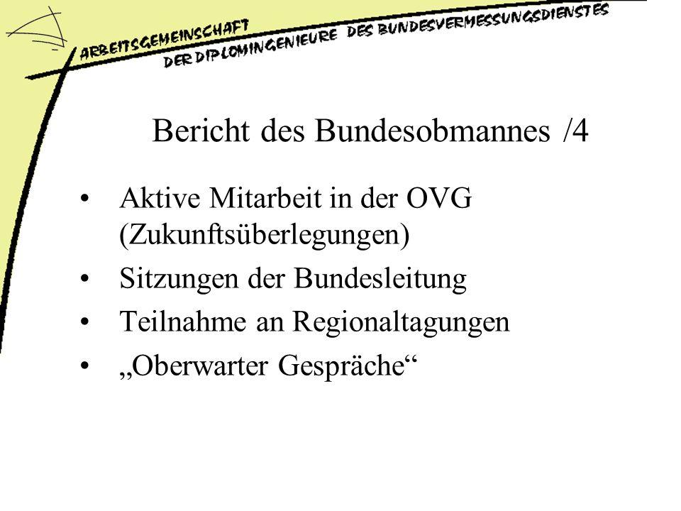 Bericht des Bundesobmannes /4