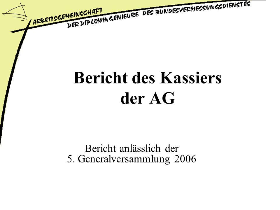 Bericht des Kassiers der AG