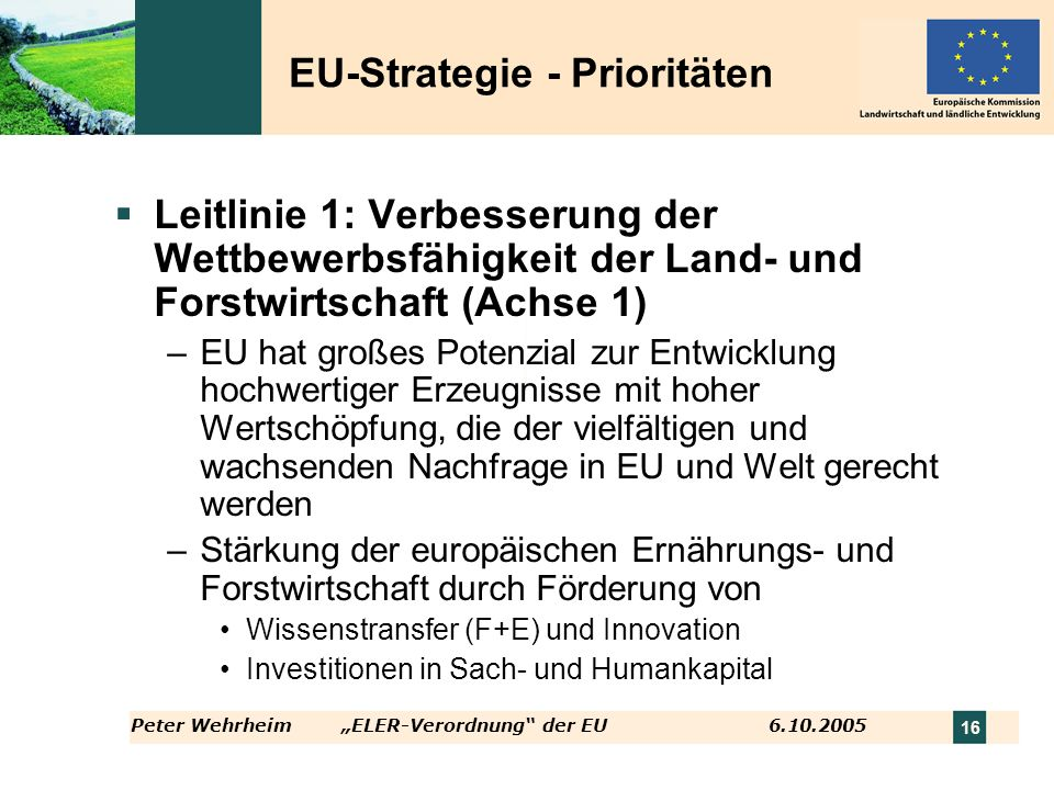 EU-Strategie - Prioritäten