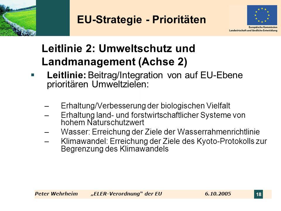 Leitlinie 2: Umweltschutz und Landmanagement (Achse 2)