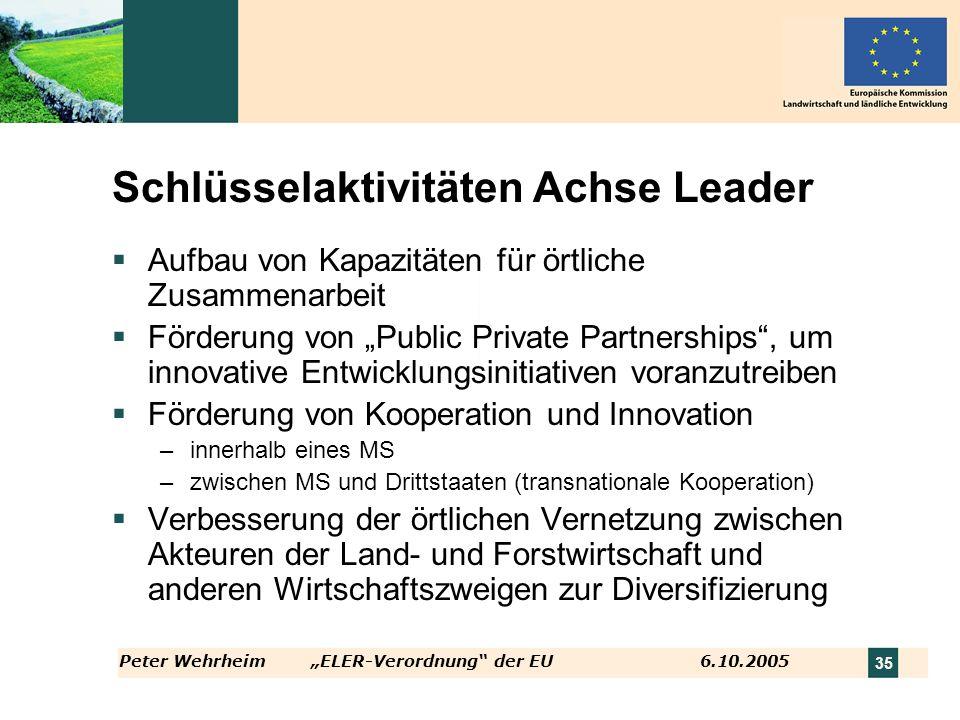 Schlüsselaktivitäten Achse Leader