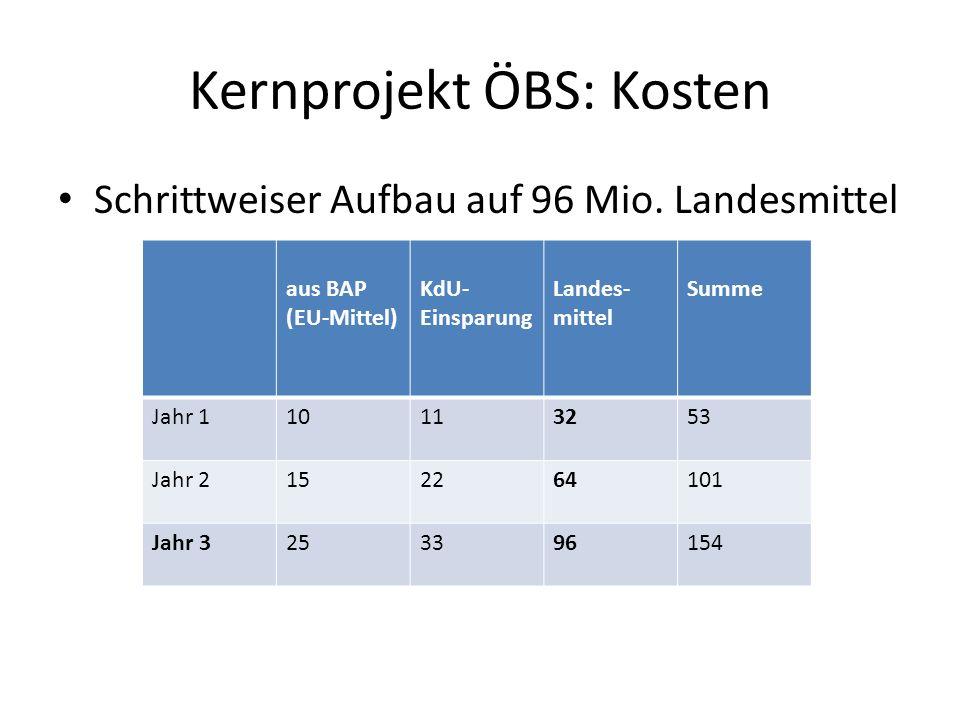 Kernprojekt ÖBS: Kosten