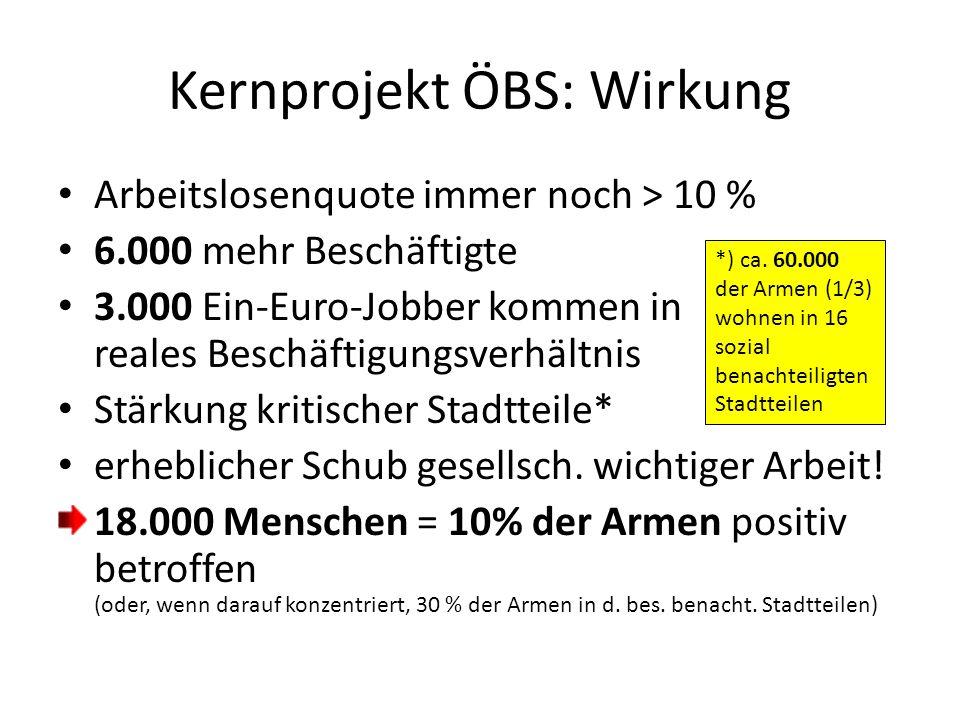 Kernprojekt ÖBS: Wirkung