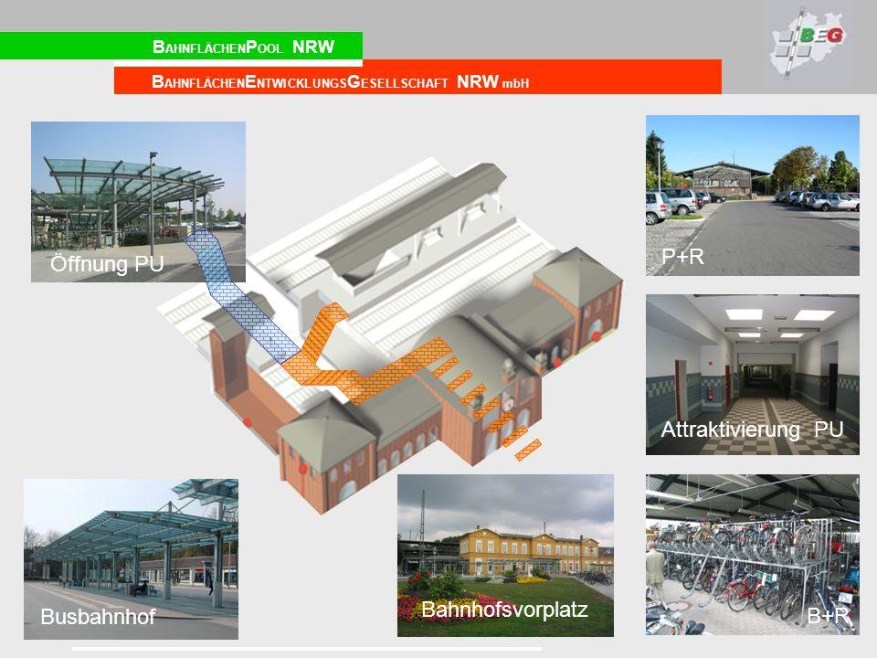 P+R Öffnung PU Attraktivierung PU Bahnhofsvorplatz Busbahnhof B+R