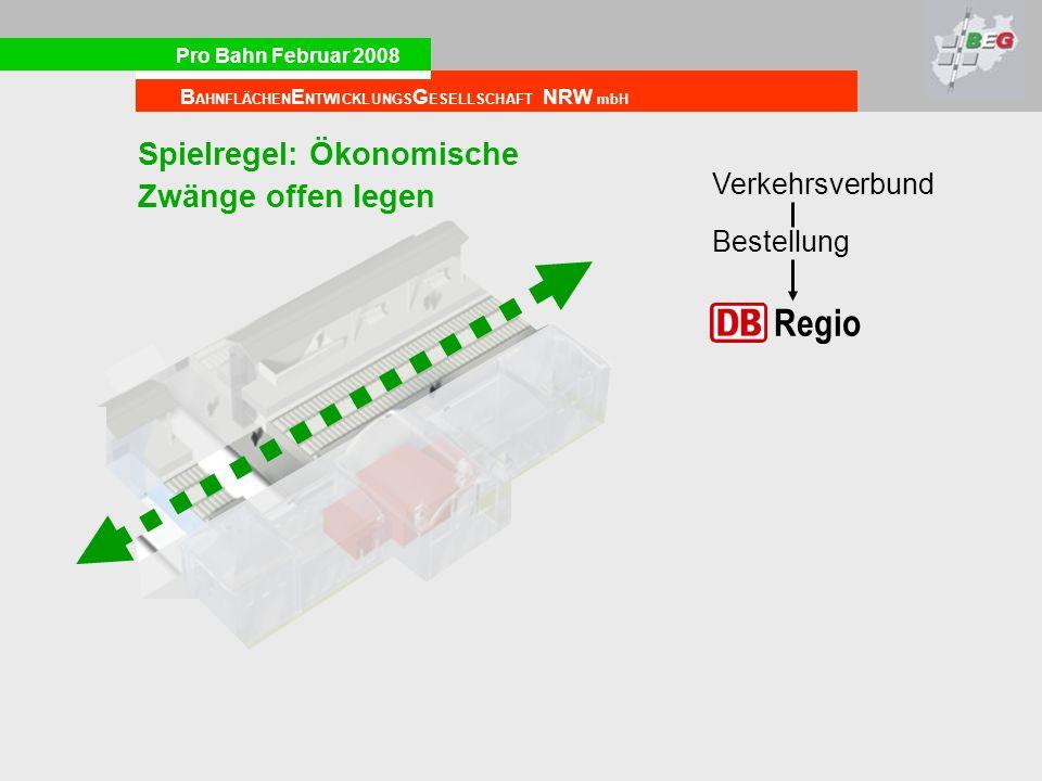Regio Spielregel: Ökonomische Zwänge offen legen Verkehrsverbund
