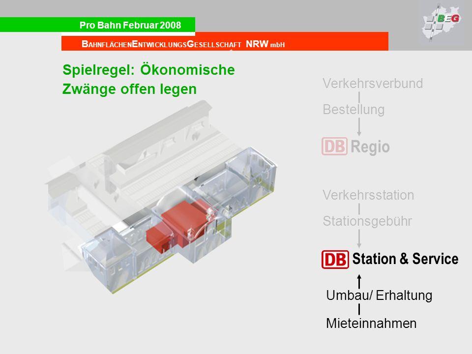 Regio Station & Service Spielregel: Ökonomische Zwänge offen legen
