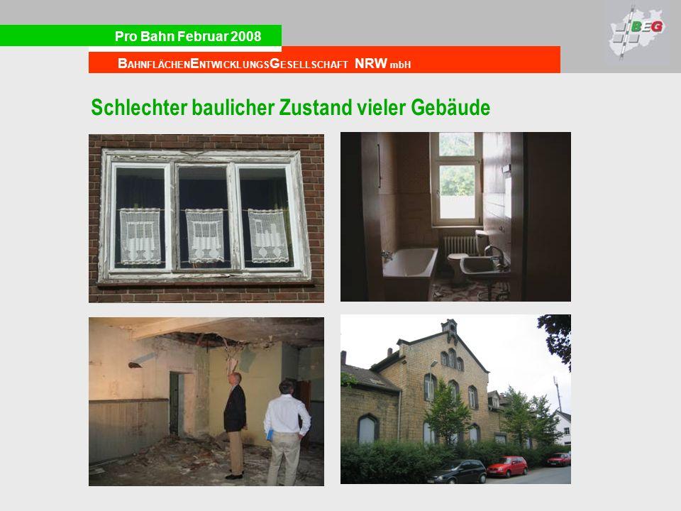 Schlechter baulicher Zustand vieler Gebäude
