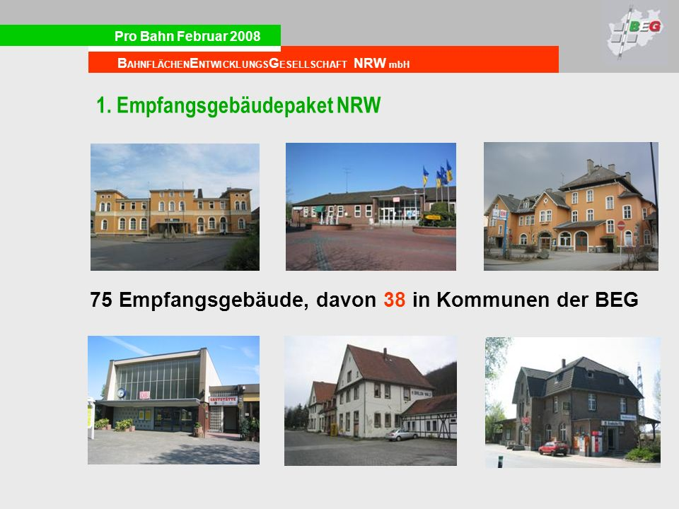 1. Empfangsgebäudepaket NRW