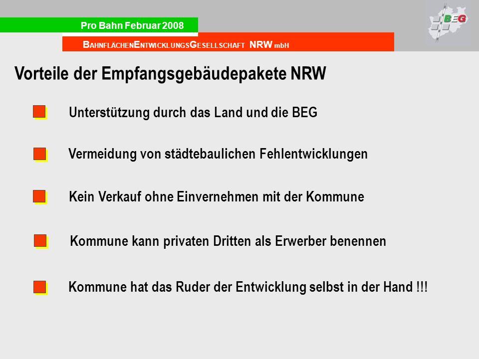 Vorteile der Empfangsgebäudepakete NRW