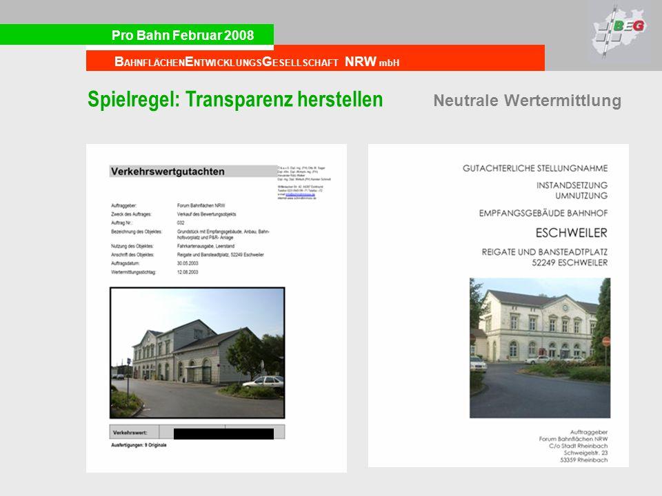 Spielregel: Transparenz herstellen Neutrale Wertermittlung