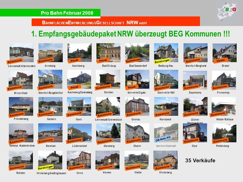 1. Empfangsgebäudepaket NRW überzeugt BEG Kommunen !!!