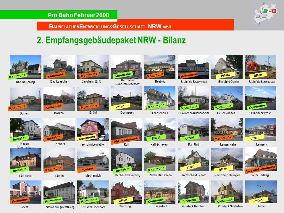 2. Empfangsgebäudepaket NRW - Bilanz