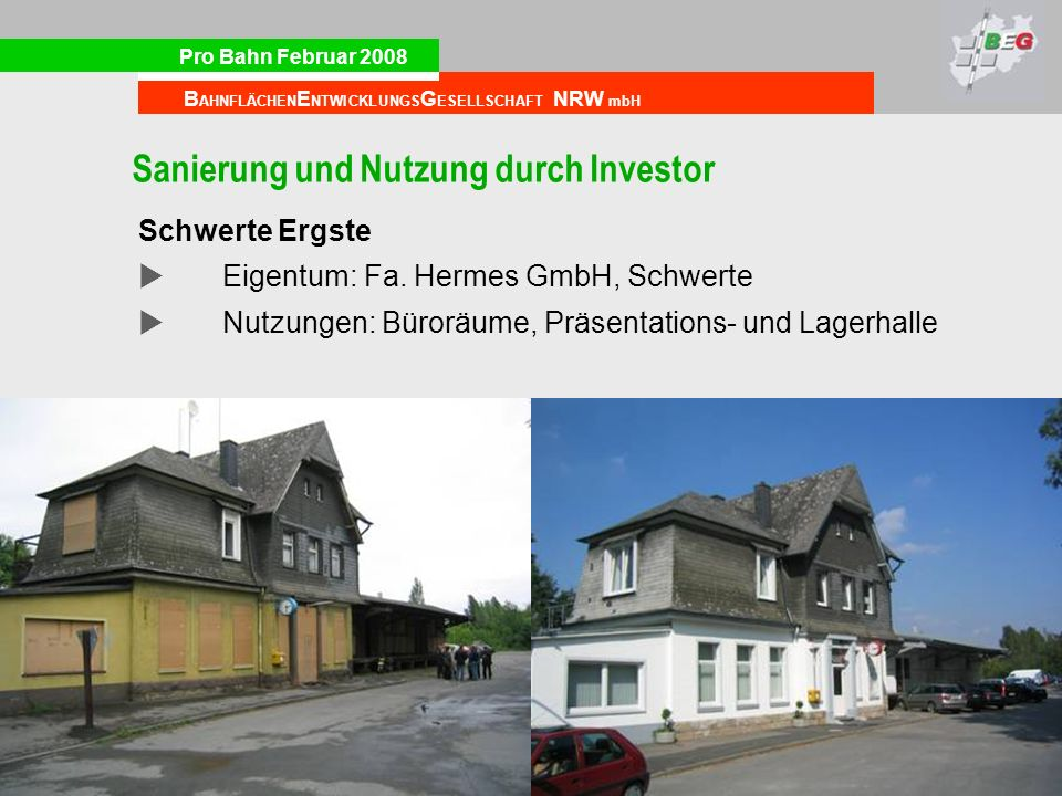 Sanierung und Nutzung durch Investor