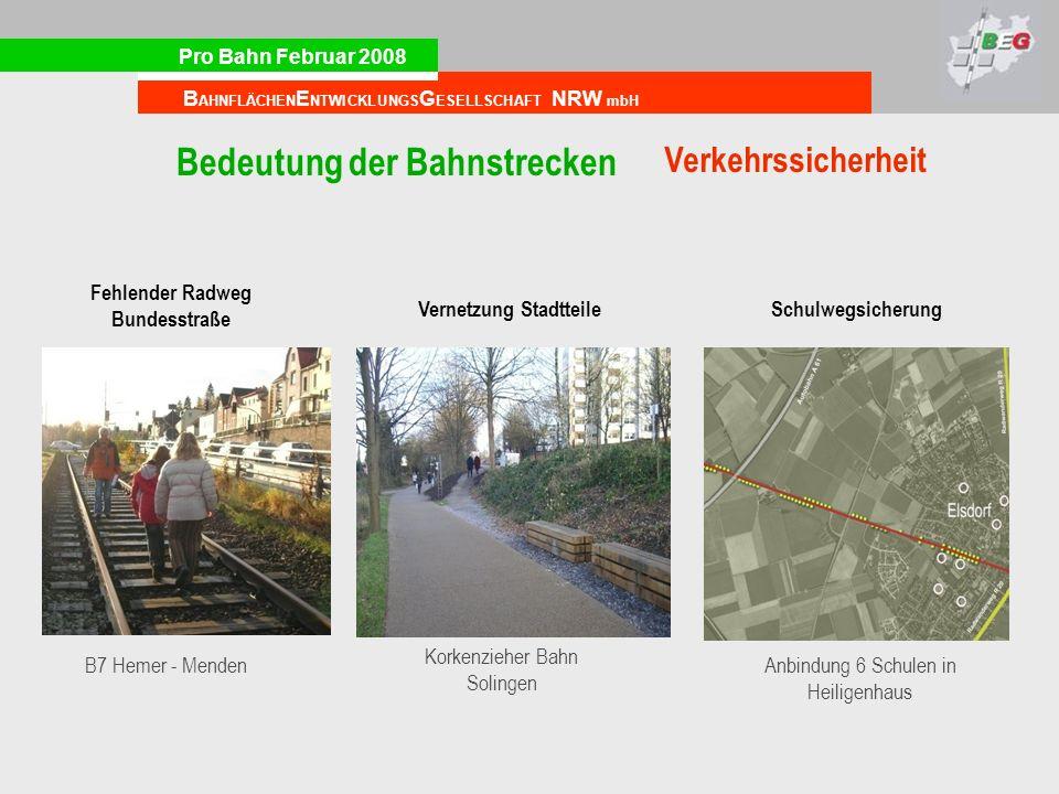 Fehlender Radweg Bundesstraße Vernetzung Stadtteile